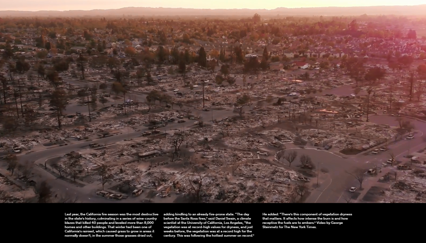 aftermath of the California fires