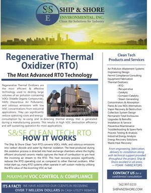 Regenerative Thermal Oxidizer Brochure