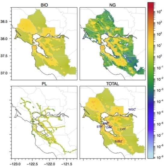 San Francisco Bay Area Methane Emissions