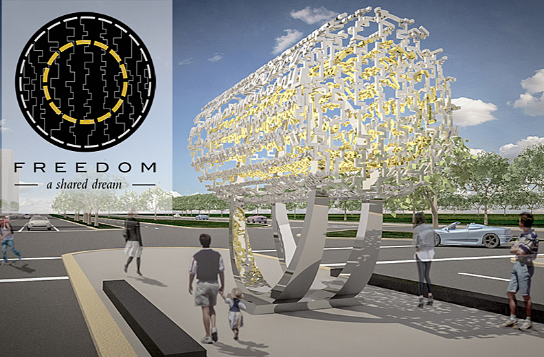 Anoosheh Oskouian Supports Farhang Foundation in Freedom Sculpture Gift To City Of L.A.